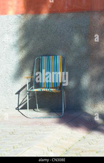 Deckchair, Marrakech, Morocco - Stock Image