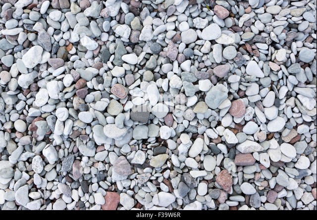 Small pebbles on a beach - Stock Image
