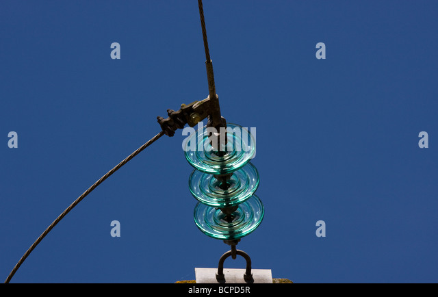 Edf electricity france stock photos edf electricity for Glass power line insulators
