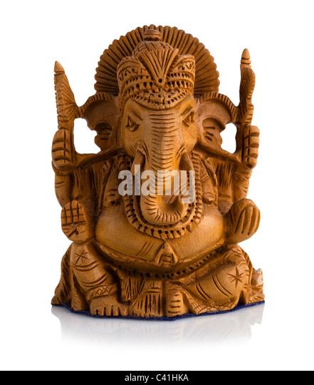 Sandalwood statue of Ganesha - Stock-Bilder