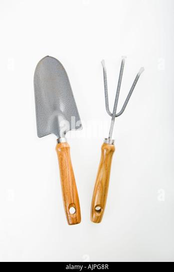 Garden fork studio stock photos garden fork studio stock for Hand held garden spade