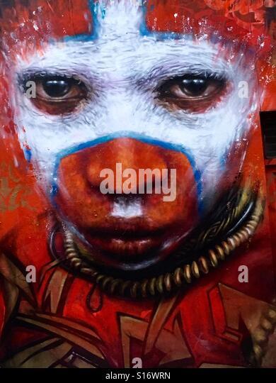 Tribesman Street Art in Brick Lane London - Stock-Bilder