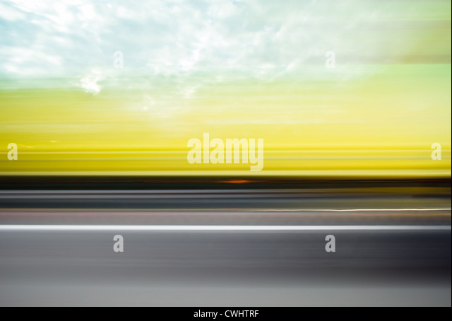 copy space,blurred motion,on the move,driving - Stock Image