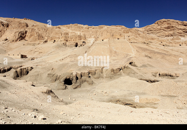 Tombs in valley of the nobles egypt - Stock Image