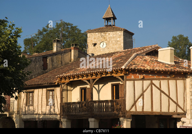 Elk196-1739 France, Aquitaine, Fources, traditional architecture - Stock Image