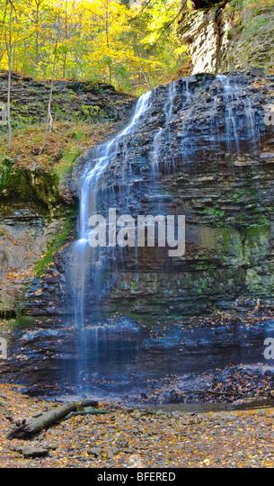 Tiffany Falls, Bruce Trail, Niagara Escarpment, Hamilton, Ontario, Canada - Stock Image