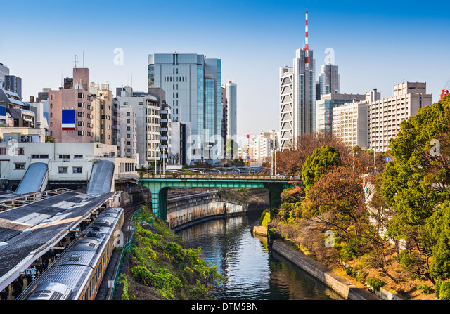 Ochanomizu, Tokyo, Japan at the university buildings. - Stock Image