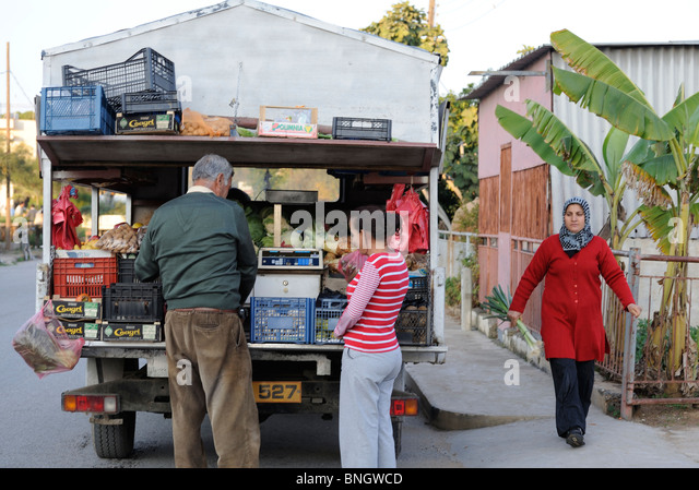 Famagusta North Cyprus mobile food shop - Stock Image