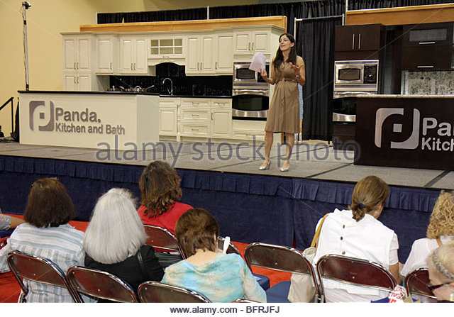 Miami Beach Miami Florida Beach Convention Center centre Health & and Fitness Expo free screening testing exhibit - Stock Image