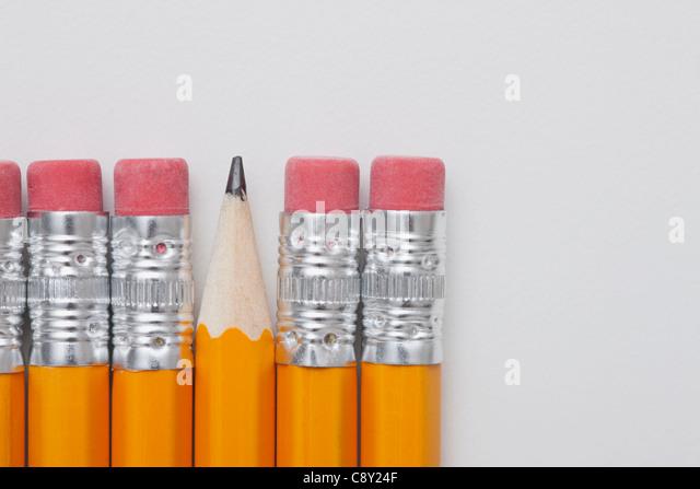 Studio shot of pencils - Stock Image