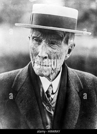 JOHN D. ROCKEFELLER (1839-1937) American oil billionaire in June 1911 - Stock-Bilder