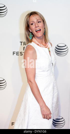 New York, NY, USA - April 21, 2014: Actress Mary Stuart Masterson attends Tribeca Talks: After The Movie: 'NOW: - Stock Image
