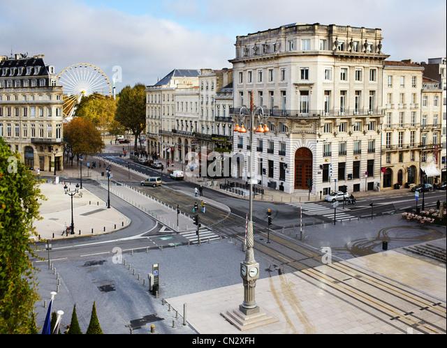 Place de la Comedie, Bordeaux, France - Stock Image
