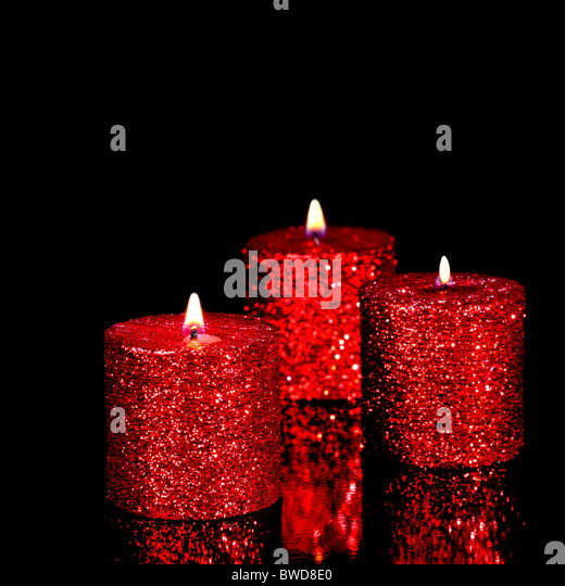 Candles Isolated On Black Stock Photos & Candles Isolated ...