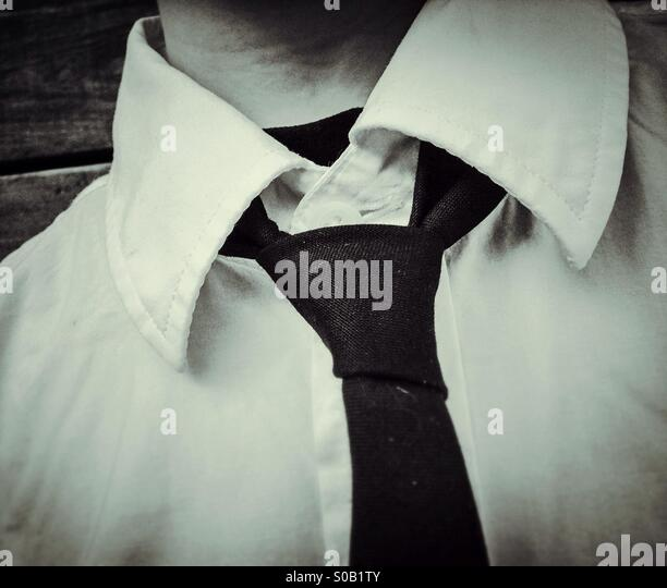 Man with shirt and tie - Stock Image