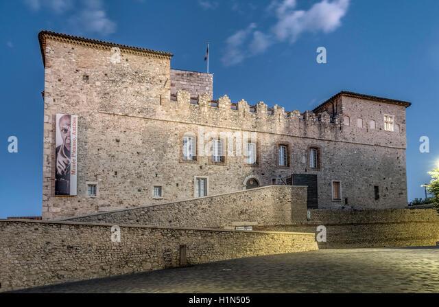 , Cote d'Azur, Chateau Grimaldi, French Riviera, Mediterranean, Provence, France - Stock Image