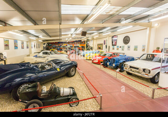 The Hall of Motor Sport in the Haynes International Motor Museum, Sparkford, Somerset, England, UK - Stock Image