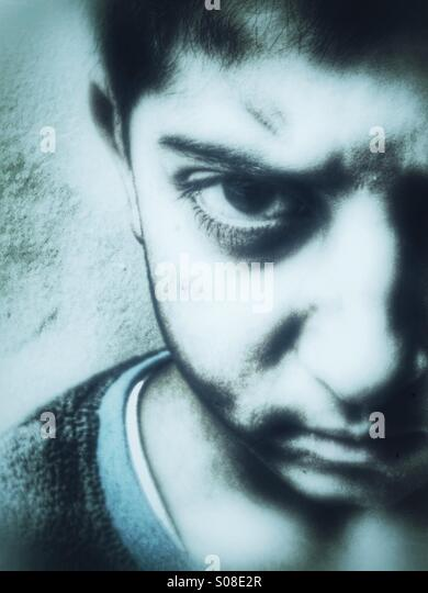 Angry child - Stock-Bilder