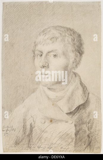 Self-Portrait, 1800. Artist: Friedrich, Caspar David (1774-1840) - Stock Image