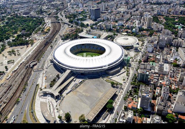 Sports Complex Athletics Stadium Maracana with Celio Barros, Maracana and Maracanazinho - Stock Image