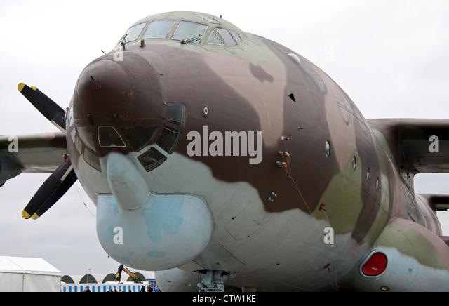 Antonov An-22 'Antaeus' (The international aerospace salon MAKS-2009 - Stock Image