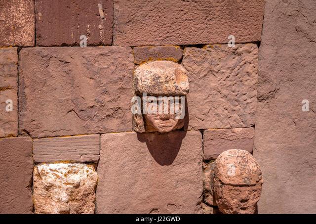 Pre inca sculpture stock photos