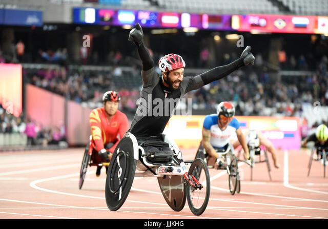 World Para Athletics Championships - Track events - Stock Image