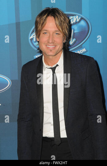 Hollywood, CA, USA. 7th Apr, 2016. Keith Urban. Arrivals for FOX's ''American Idol'' Finale - Stock Image