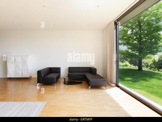 garden from living room stock photos garden from living. Black Bedroom Furniture Sets. Home Design Ideas