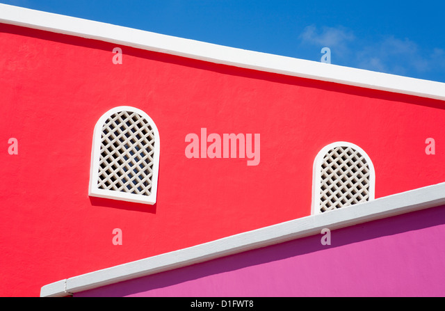 Architectural detail in Costa Maya port, Quintana Roo, Mexico, North America - Stock Image