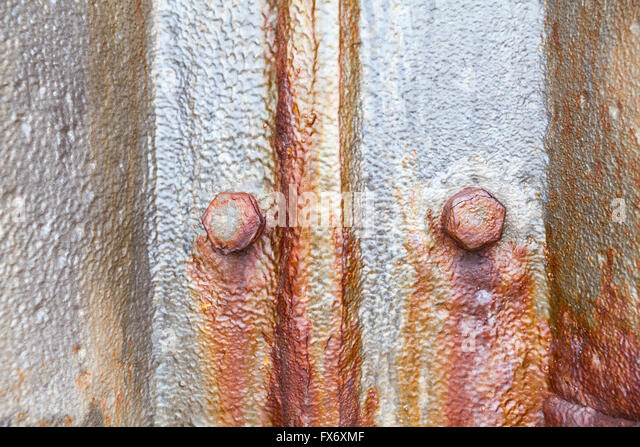 Rusty old metal background texture, corroded surface - Stock Image