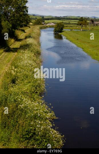 'Northern Reaches' of Lancaster Canal, Cumbria where it's un-navigable by narrowboats - Stock Image
