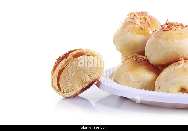 Close up of bakpia cake - Stock Image