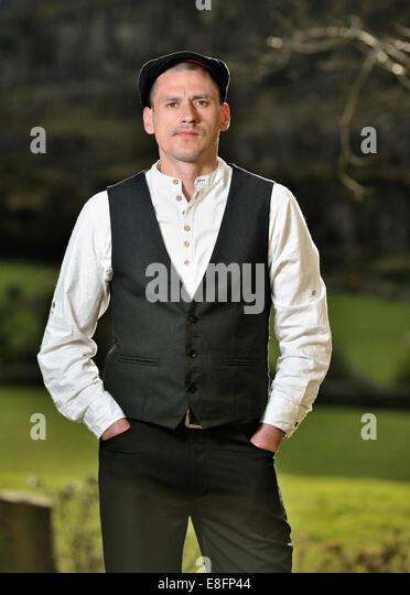 Portrait of man wearing italian style clothing - Stock Image