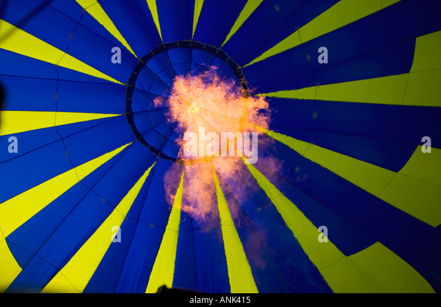Hot Air Balloon Flame - Stock Image