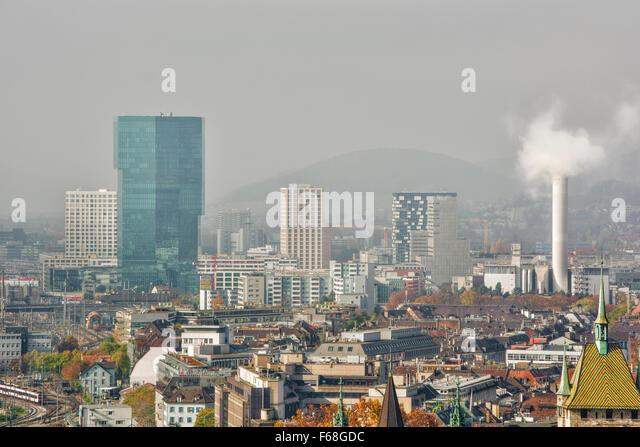 November 2015, skyline of Zurich (Switzerland), HDR-technique - Stock Image