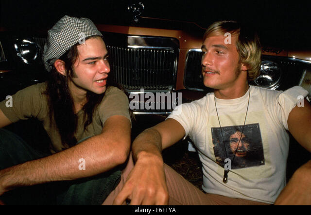 Sep 10, 1993; Austin, TX, USA; RORY COCHRANE and MATTHEW MCCONAUGHEY star as Ron Slater and David Wooderson in the - Stock Image