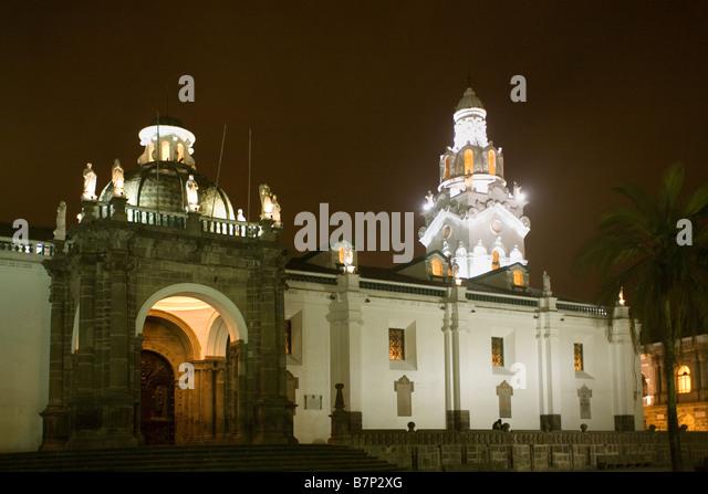 Ecuador Quito Metropolitan cathedral - Stock Image