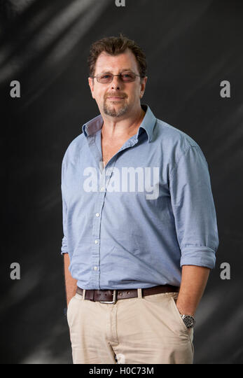 Conn Iggulden, the British author of historical fiction, at the Edinburgh International Book Festival. Edinburgh, - Stock Image