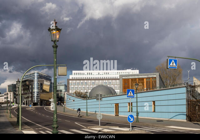 Government District, Modern architecture, Calatrava bridge, Kita ,Berlin , Germany - Stock Image