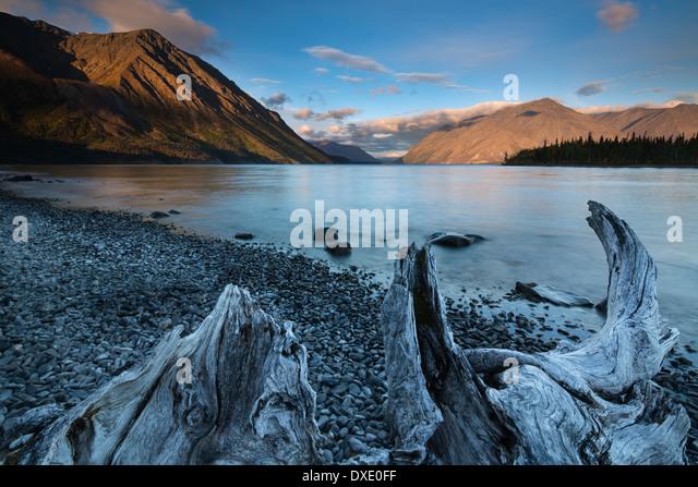 Kathleen Lake at dawn, Kluane National Park, Yukon Territories, Canada - Stock Image