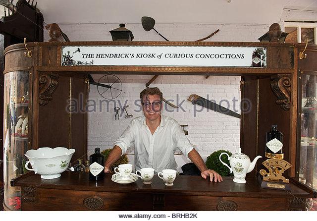 Hendrick's Gin Bar at The Woodstock Literary Festival 2010 - Stock Image