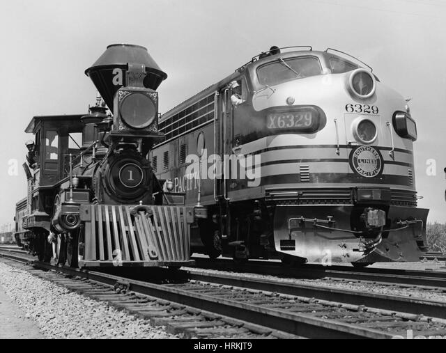 19th & 20th Century Locomotives - Stock Image