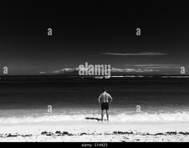 Gili T beach - Stock Image