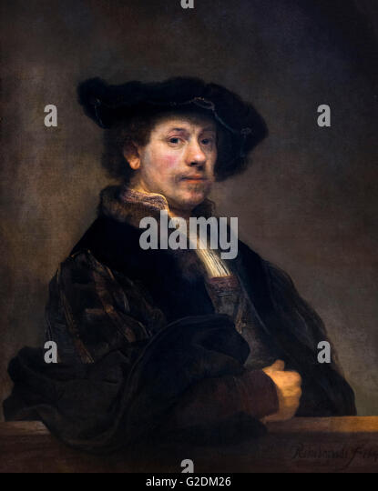 Rembrandt, Self Portrait at the Age of 34  oil on canvas, c.1640 - Stock Image