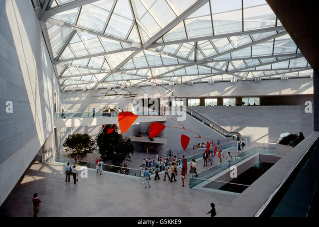 Interior view of National Gallery of Art; Washington; D. C.; USA - Stock Image
