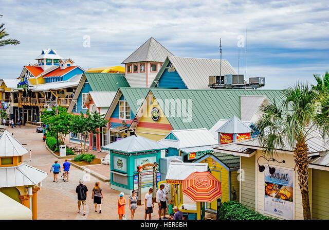Harbor Walk marina, Destin, Florida. - Stock Image