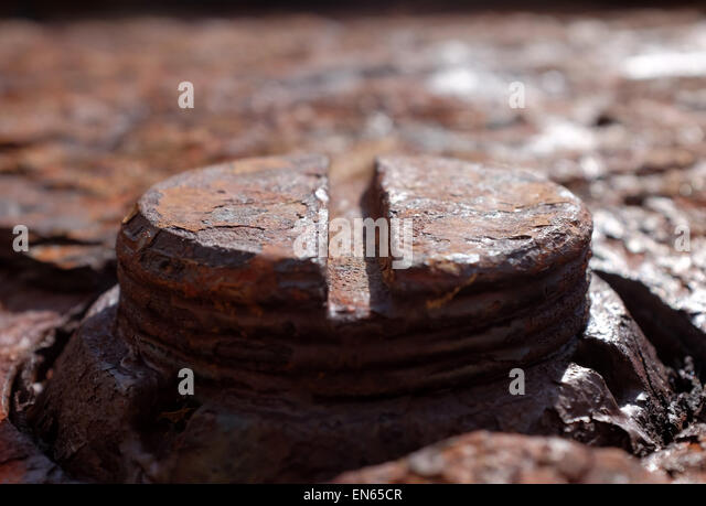 Rusty corroded metal panel background - Stock Image