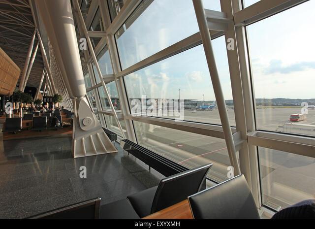 Zurich Airport Departure Lounge - Stock Image