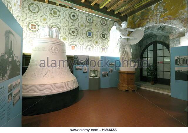 Italy, Trentino Alto Adige, Rovereto, interior of the war museum, Museo Storico della Guerra, replica of the Rovereto - Stock Image